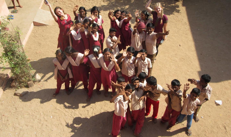Ein Teil der Kinder im Projekt Gyan Shenbakkam.
