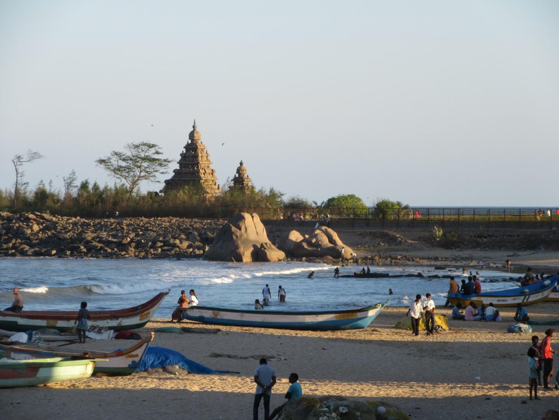 Der Shore-Temple in Mahabs. Einer der ältesten südindischen Steintempel.