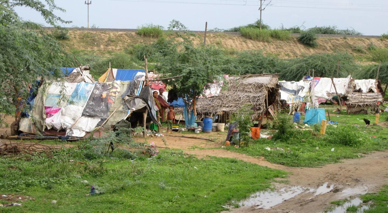 """So leben """"Gypsies"""" in Katpadi bei Vellore."""